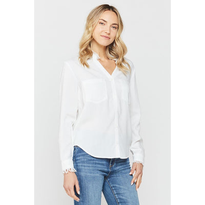 Velvet Heart - Nazira Optic White Button-Up Top - Top - FSW-22580-1