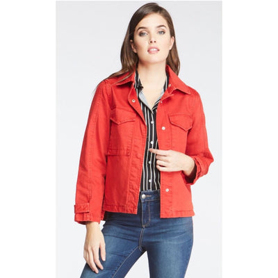 Velvet Heart - Red Denim Jacket - Women - DGC-4377