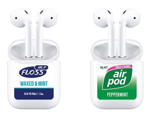 Airpods Decal Stickers - Dental Floss and Gum