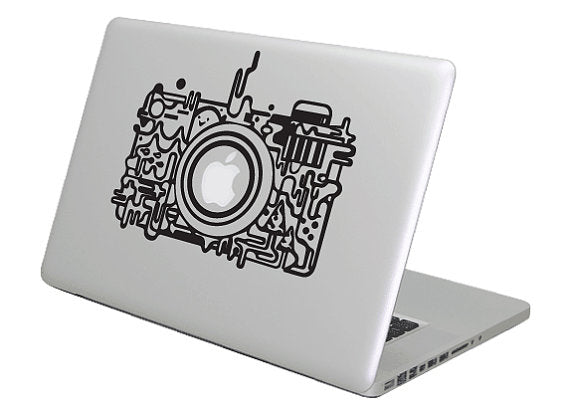 Camera Melt MacBook Decal Sticker - Gamers Combined