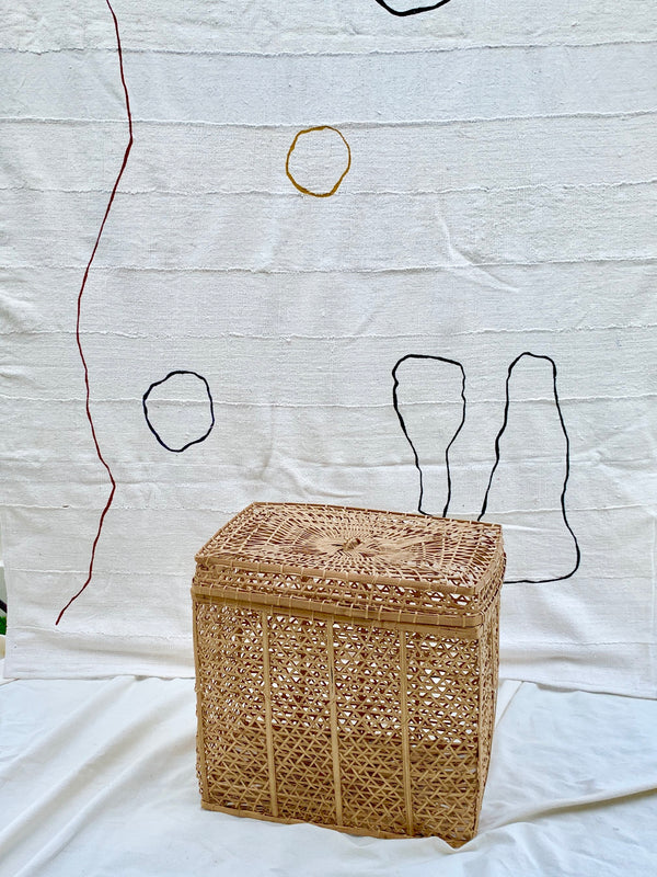 Woven Rectangle Hamper
