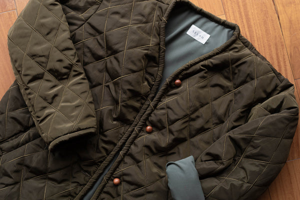 Moss Quilted Jacket