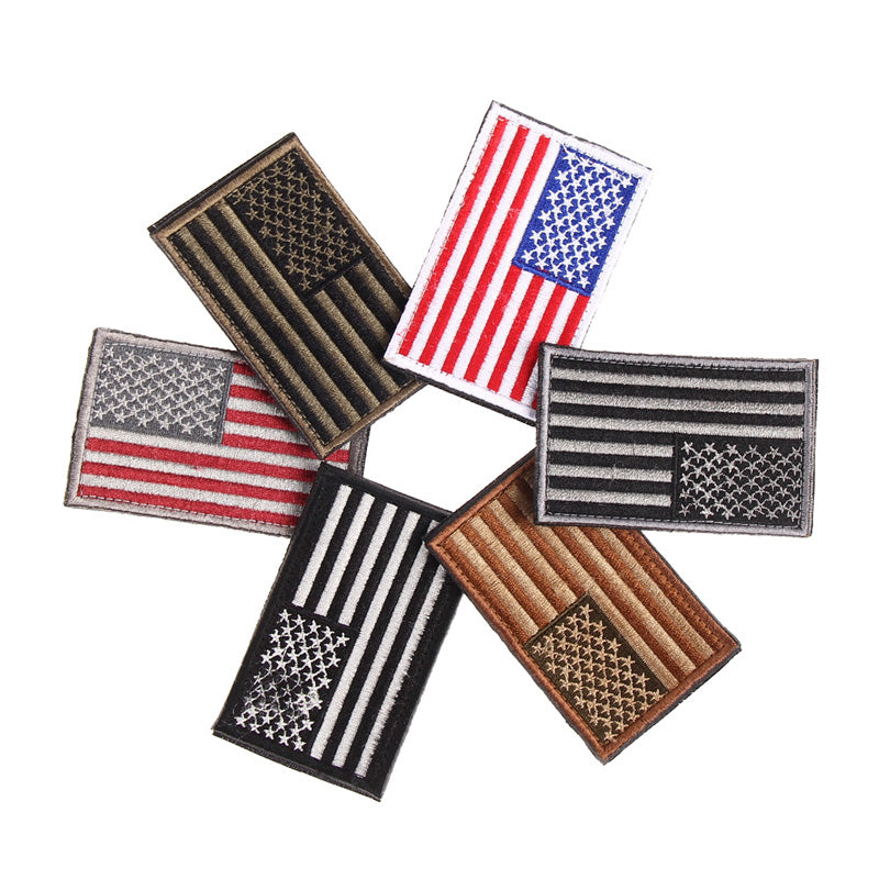 6 Styles Flag Embroidered Patches