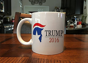 Election 2016 Donald Trump logo Dishwasher&Microwave Safe white mug coffee mugs Tea art make your own Mugs Ceramic gift mugen