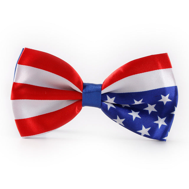 USA Red White & Blue Bow Tie