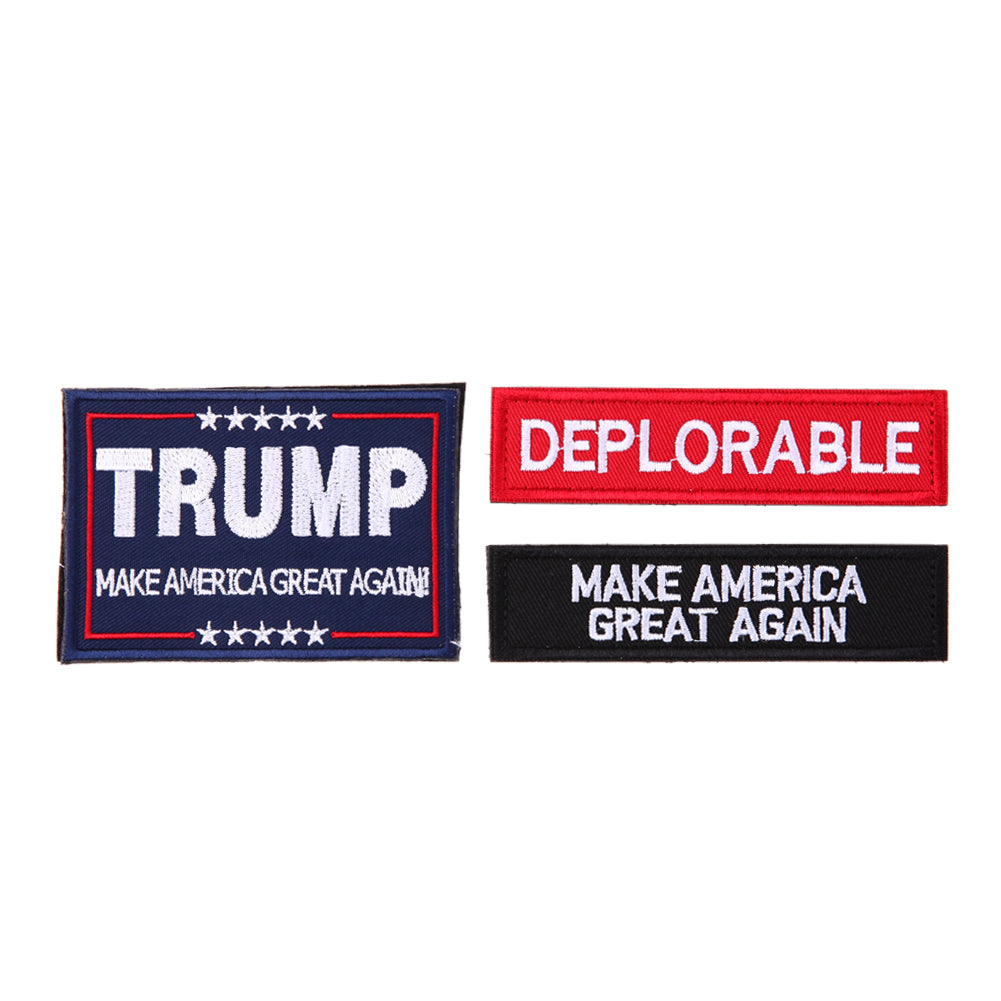 Embroidery Armband Trump Patches