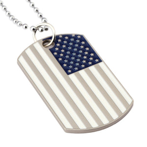 Flag Of The United States Soldier Dog Tag Necklace