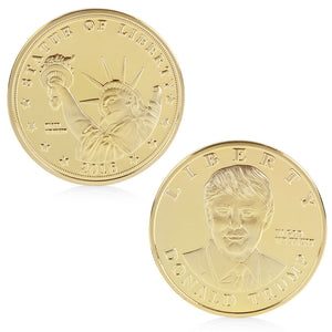 US Presidential Candidate Donald Trump Gold Plated Commemorative Coin