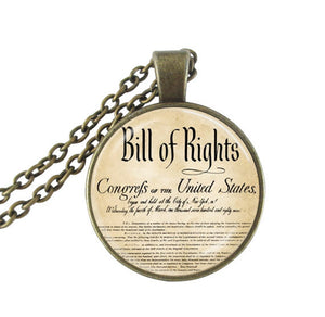 Bill Of Rights Pendant Necklace
