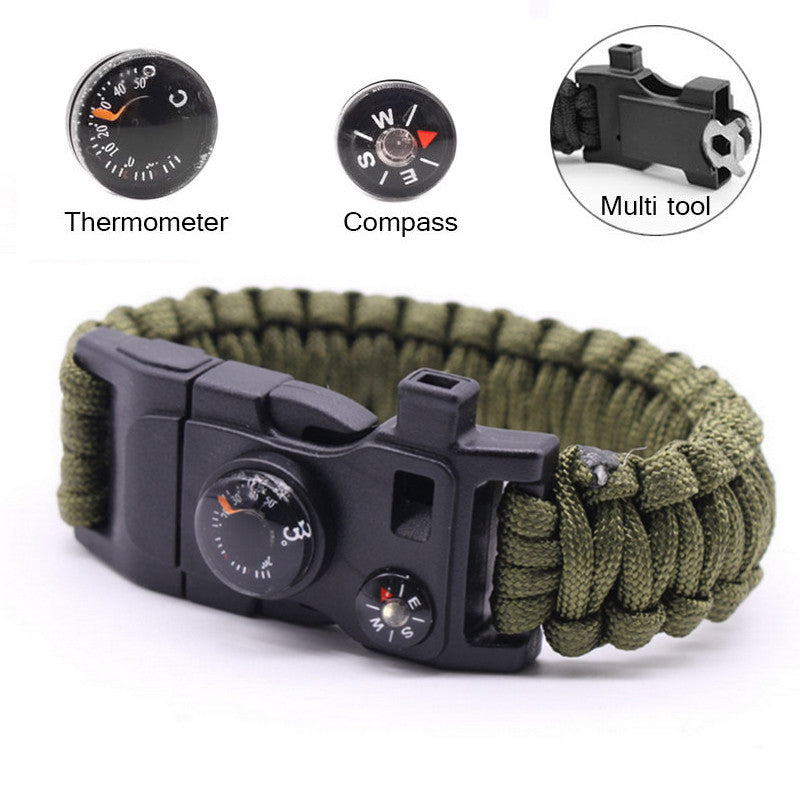 15 in 1 Multi-function Paracord Survival Bracelet