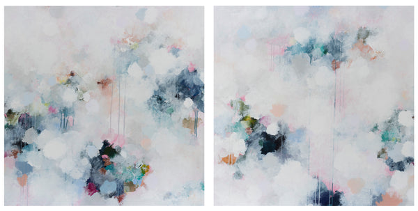 AQUA NEBULA #2 - Limited Edition Print on Paper/Diptych (Pair)