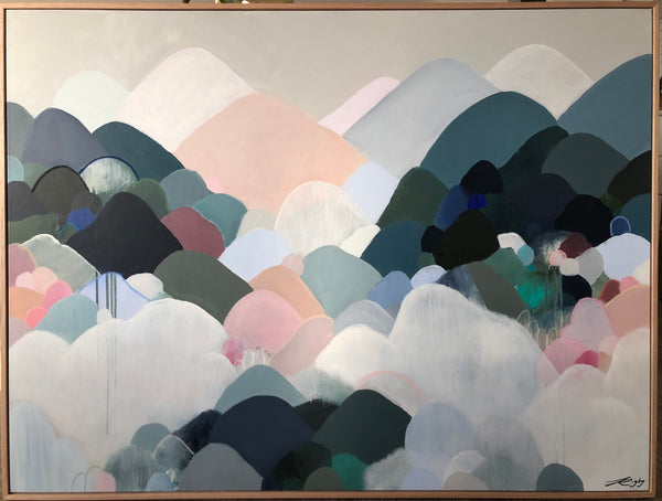 STORM CLOUDS & MOUNTAINS - 125cm x 94cm