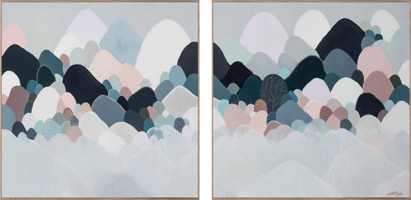 MELIORUM MONTEM DIPTYCH/PAIR - Open Edition Print on Canvas