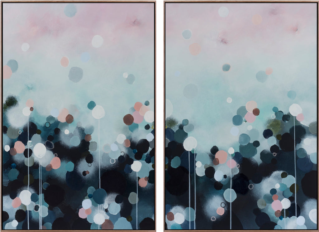 NEBULA HAZE DIPTYCH/ PAIR - Limited Edition Print on Canvas
