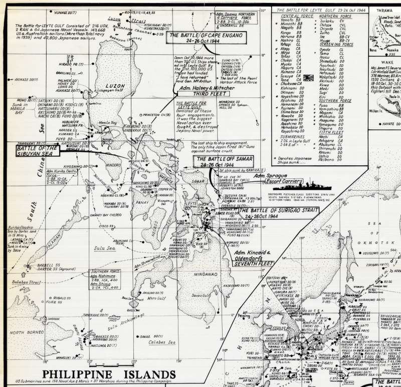 Battle Archives Map 30x27.9 Pacific Theater of Operations #1