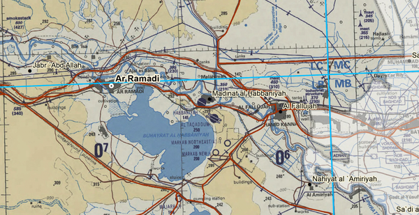 Battle Archives Map Al Anbar Province, Iraq Topographical Map