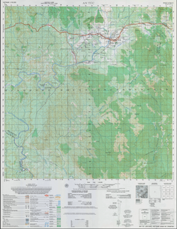 Battle Archives Map An Tuc 1:50,000 Topographical Map