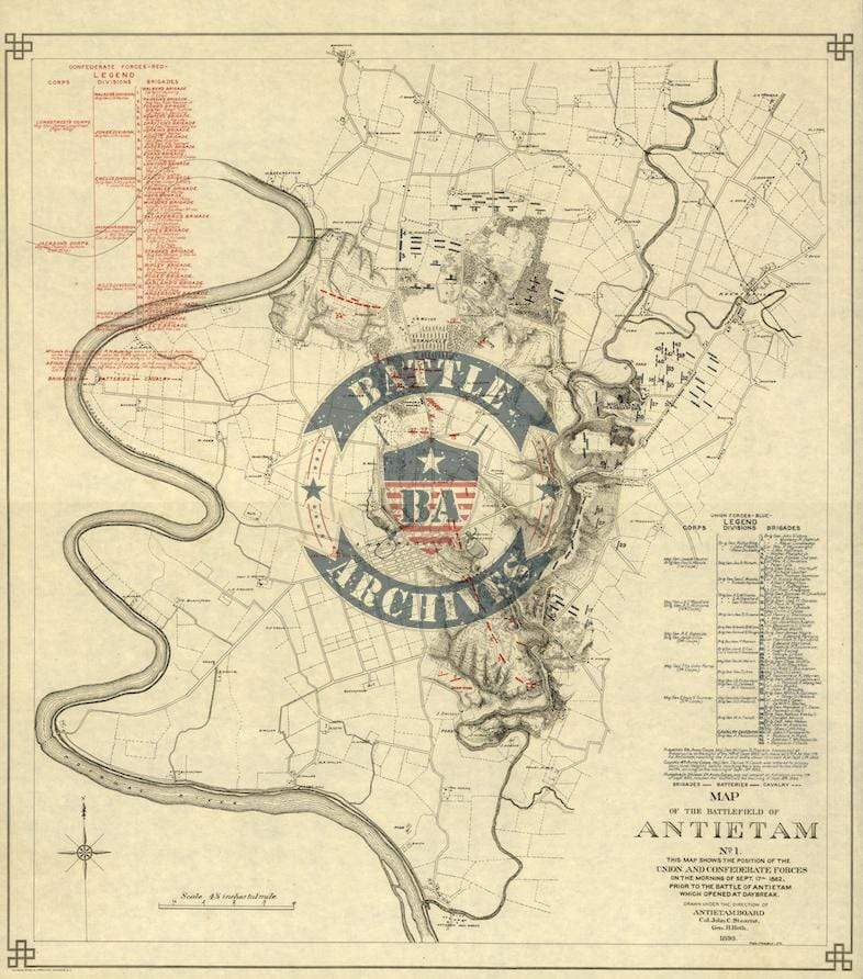 Battle Archives Map Antietam #2