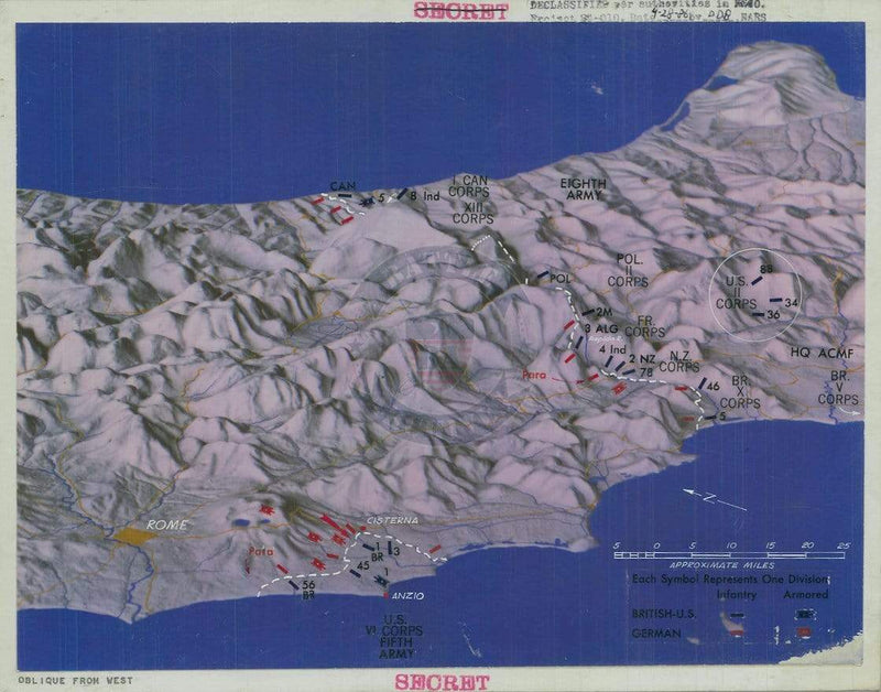 Battle Archives Map Anzio