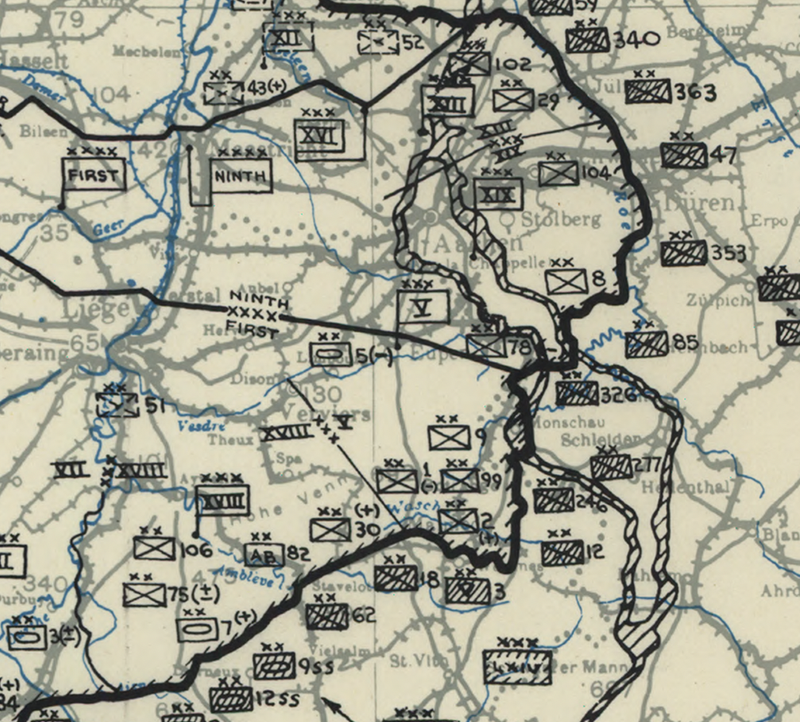 Battle Archives Map Ardennes Counteroffensive (Battle of the Bulge) 31 December Map