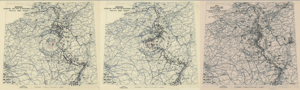 Battle Archives Map Ardennes Counteroffensive (Battle of the Bulge)