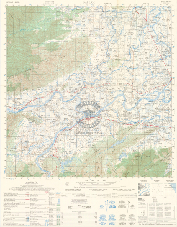 Battle Archives Map Arizona Territory, Vietnam