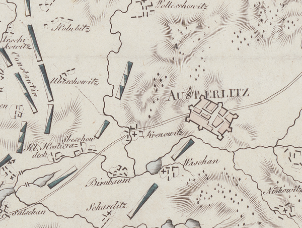 Battle Archives Map Austerlitz (Napoleon's Greatest Victory) Battle Map