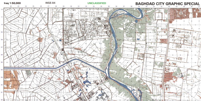 Battle Archives Map Baghdad, Iraq #1