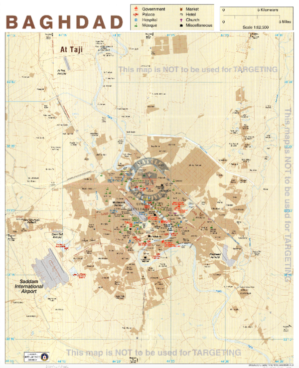 Battle Archives Map Baghdad, Iraq #2