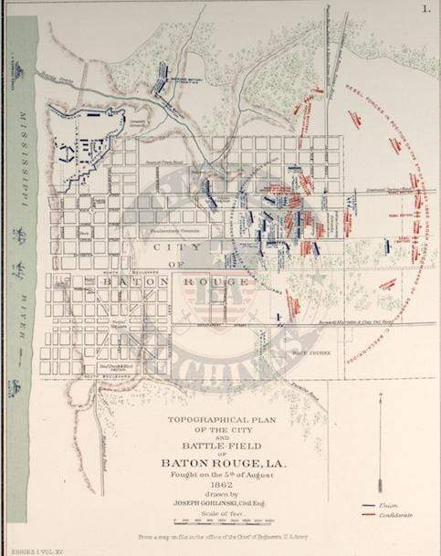 Battle Archives Map Baton Rouge, Louisiana