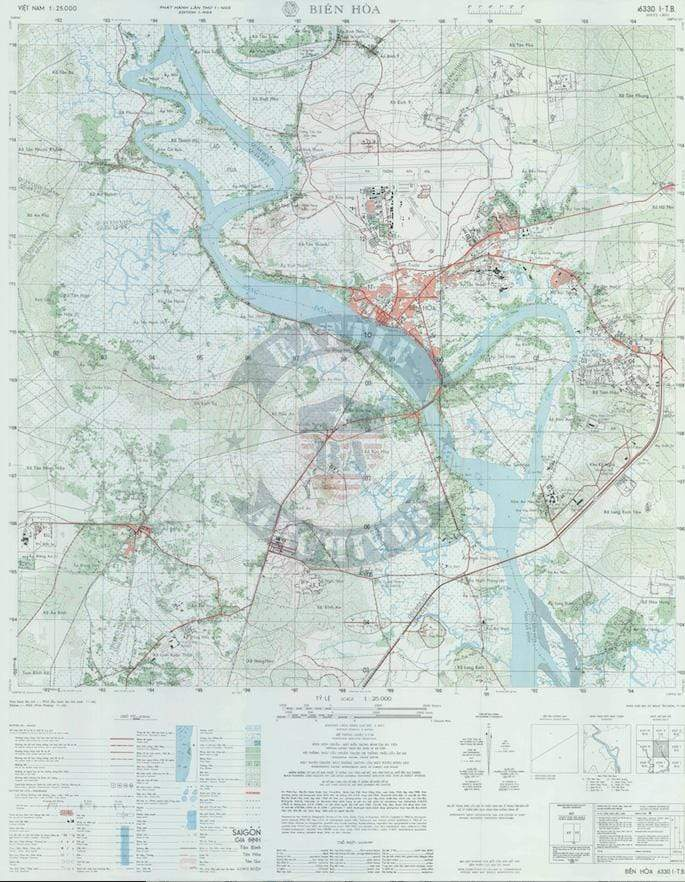 Battle Archives Map Bien Hoa #2