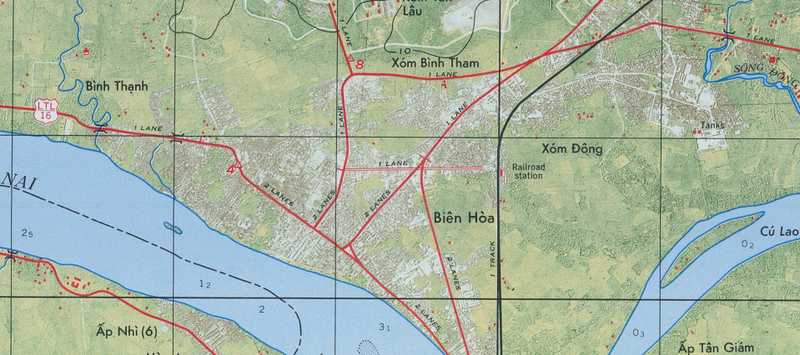 Battle Archives Map Bien Hoa #3
