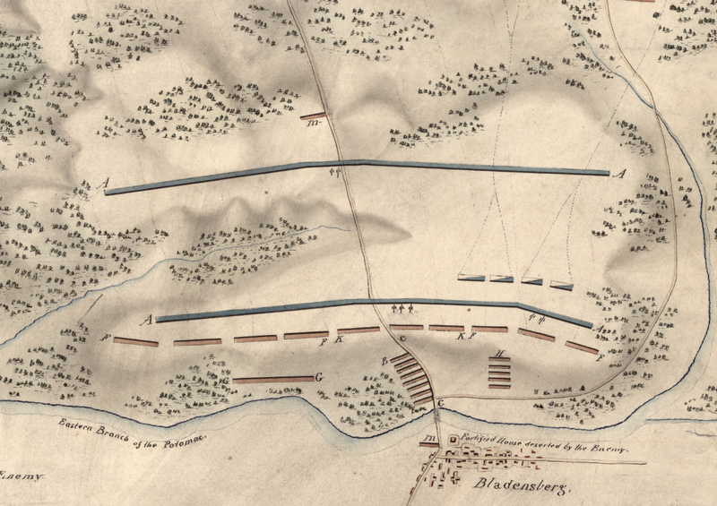 Battle Archives Map Bladensburg, Maryland
