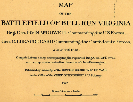 Battle Archives Map Bull Run (Manassas) I #1