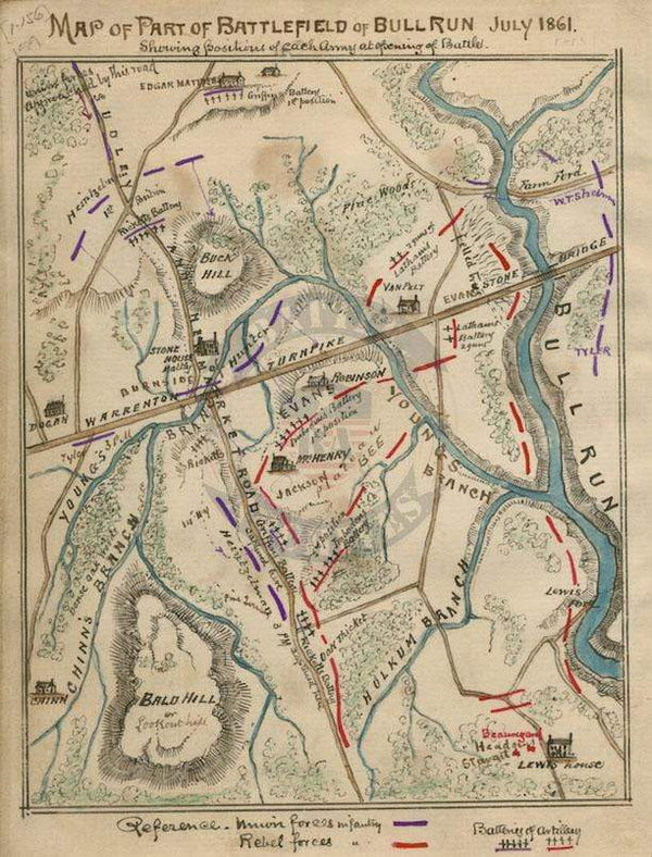 Battle Archives Map Bull Run (Manassas) I #2