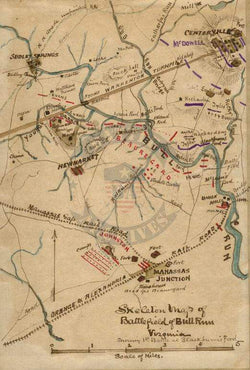Battle Archives Map Bull Run (Manassas) I #3