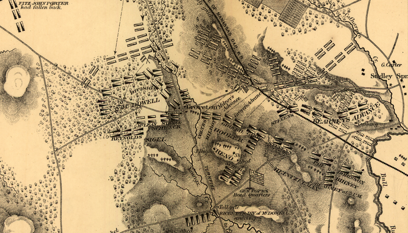 Battle Archives Map Bull Run (Manassas) II #1