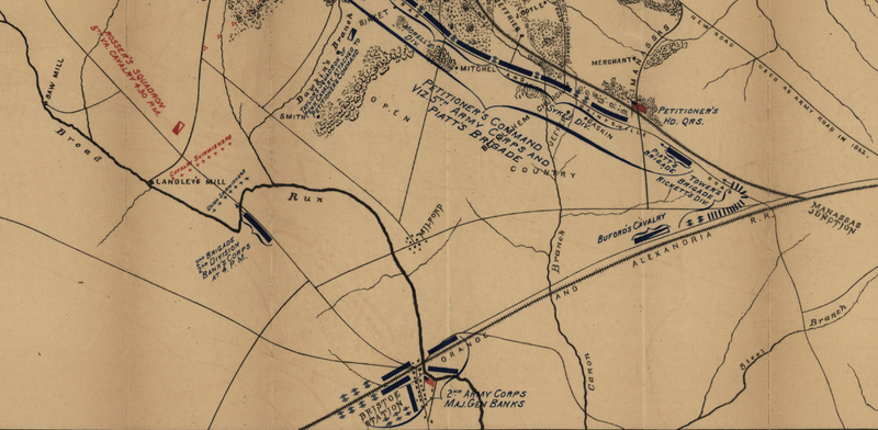 Battle Archives Map Bull Run (Manassas) II #2