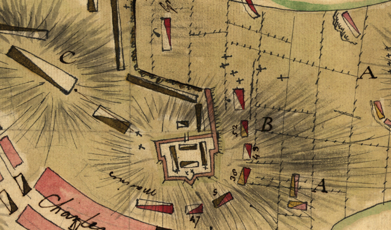 Battle Archives Map Bunker Hill, Massachusetts #1