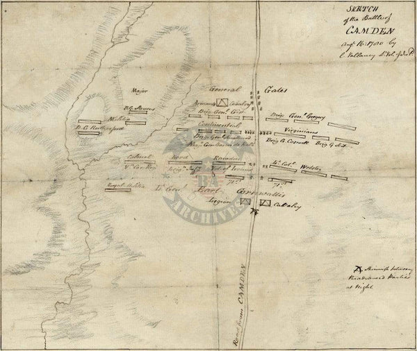 Battle Archives Map Camden, South Carolina