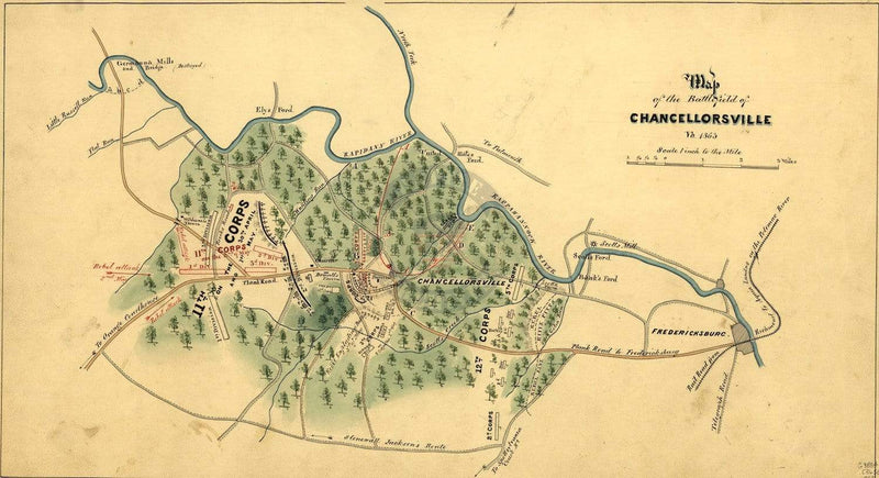 Battle Archives Map Chancellorsville #2
