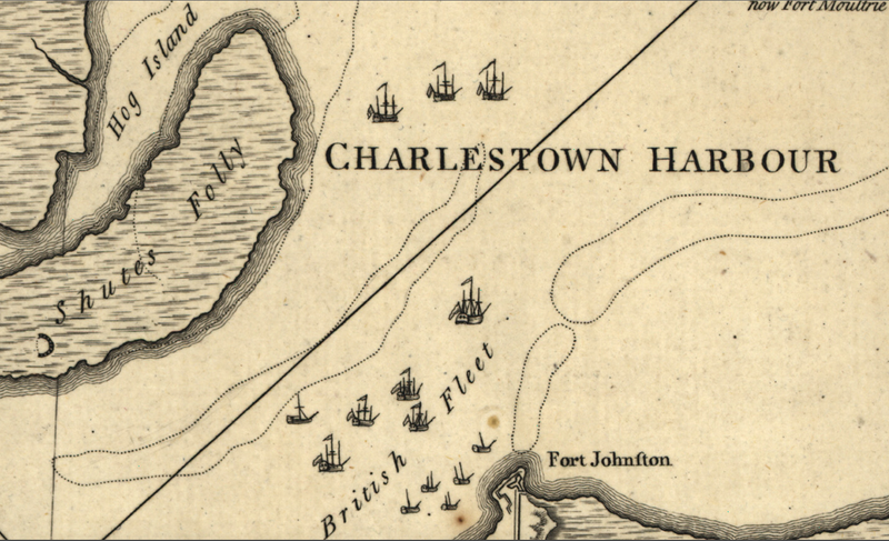 Battle Archives Map Charles Town, South Carolina #1