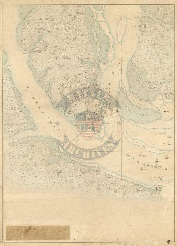 Battle Archives Map Charles Town, South Carolina #2