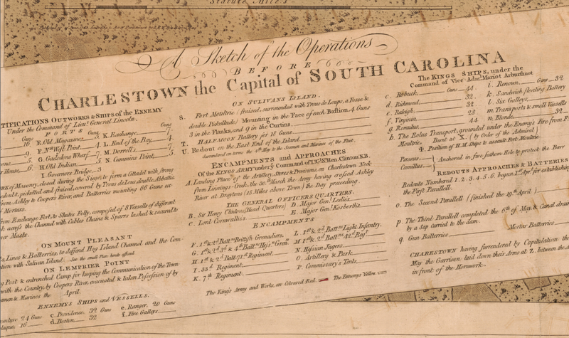 Battle Archives Map Charles Town, South Carolina #3