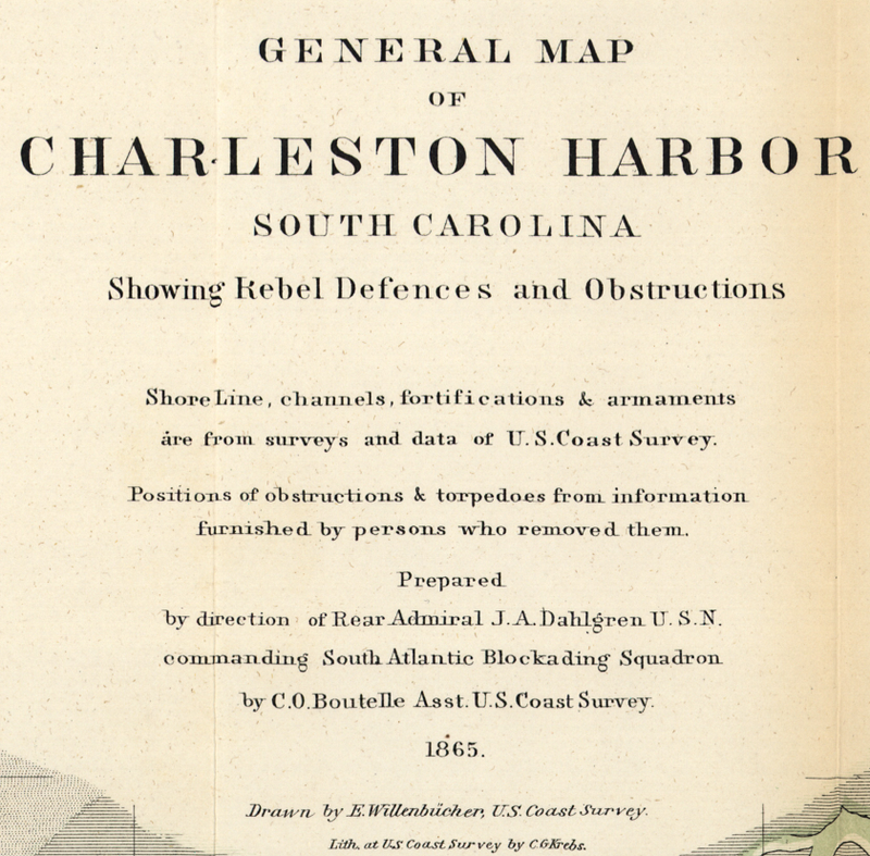 Battle Archives Map Charleston, South Carolina #1