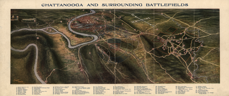 Battle Archives Map Chattanooga, Tennessee #2 (Campaign)