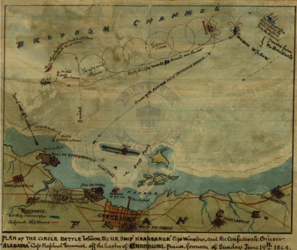 Battle Archives Map Cherbourg, France