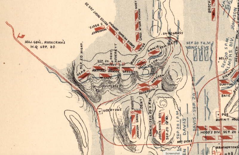Battle Archives Map Chickamauga