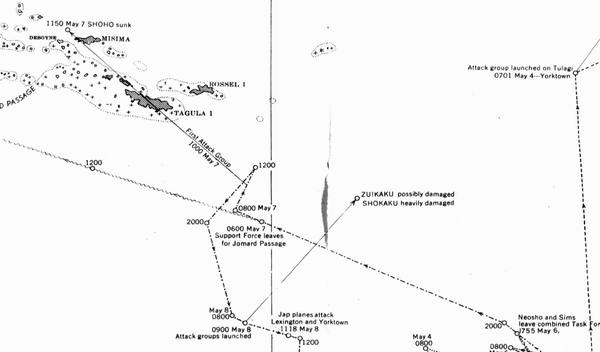 Battle Archives Map Coral Sea