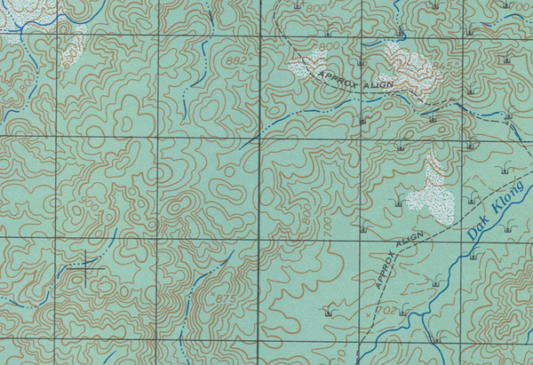 Battle Archives Map Dak To, Vietnam (Western Hills)